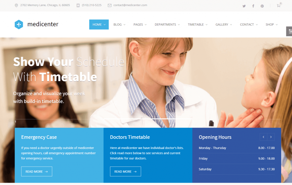 health center wordpress theme